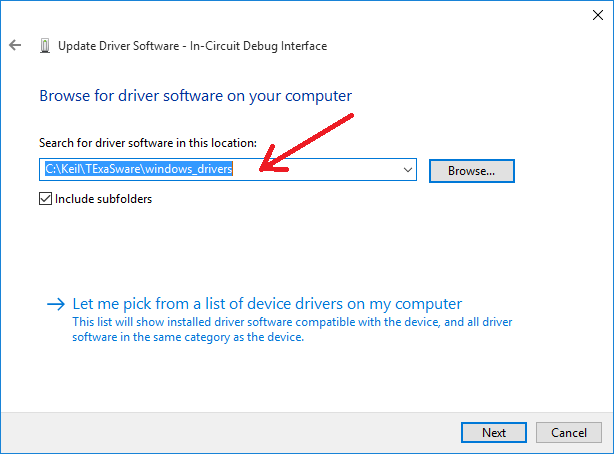 How to install windows drivers for the LaunchPad on Windows 10