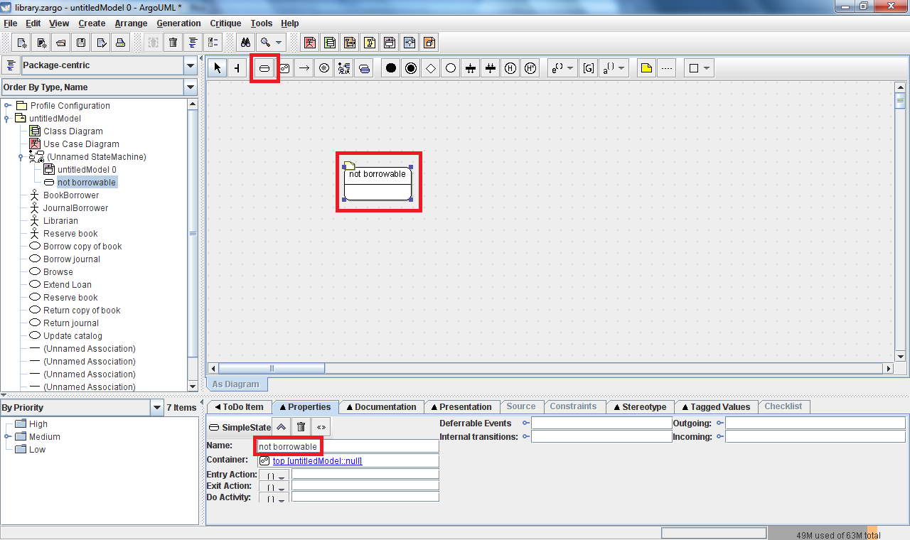 Uml Additionally State Machine Diagram On Tool Diagrams Each Should Be Given A Short Descriptive Name Which Can Entered In The Field Within Properties Tab Essential User Interface